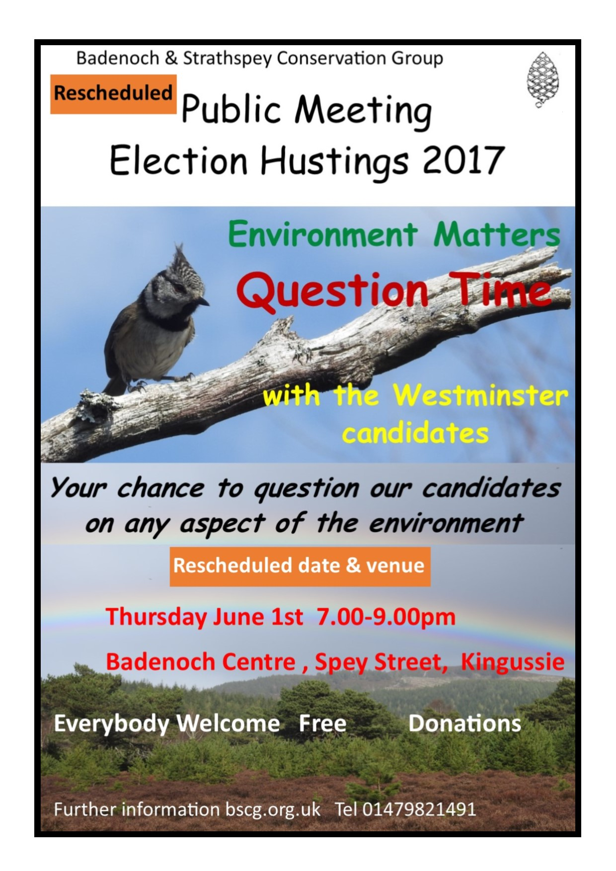 Revided 2017 hustings poster